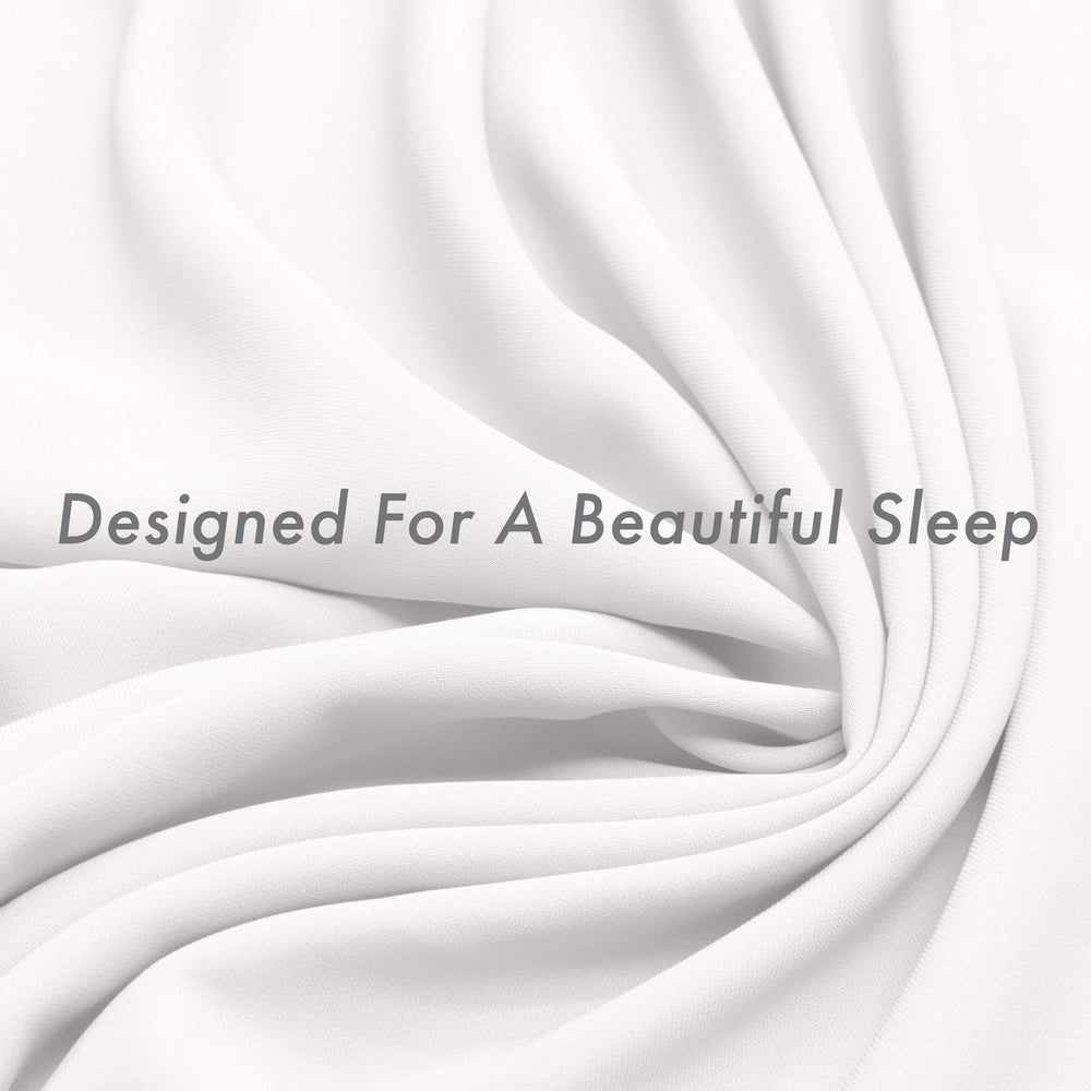 Ultra Silk Like Beauty Pillow Cover - Blend of 85% Nylon and 15% Spandex Means This Cover Is Designed to Keep Hair Tangle Free and Helps Skin - Bonus Matching Hair Scrunchie, White, Queen