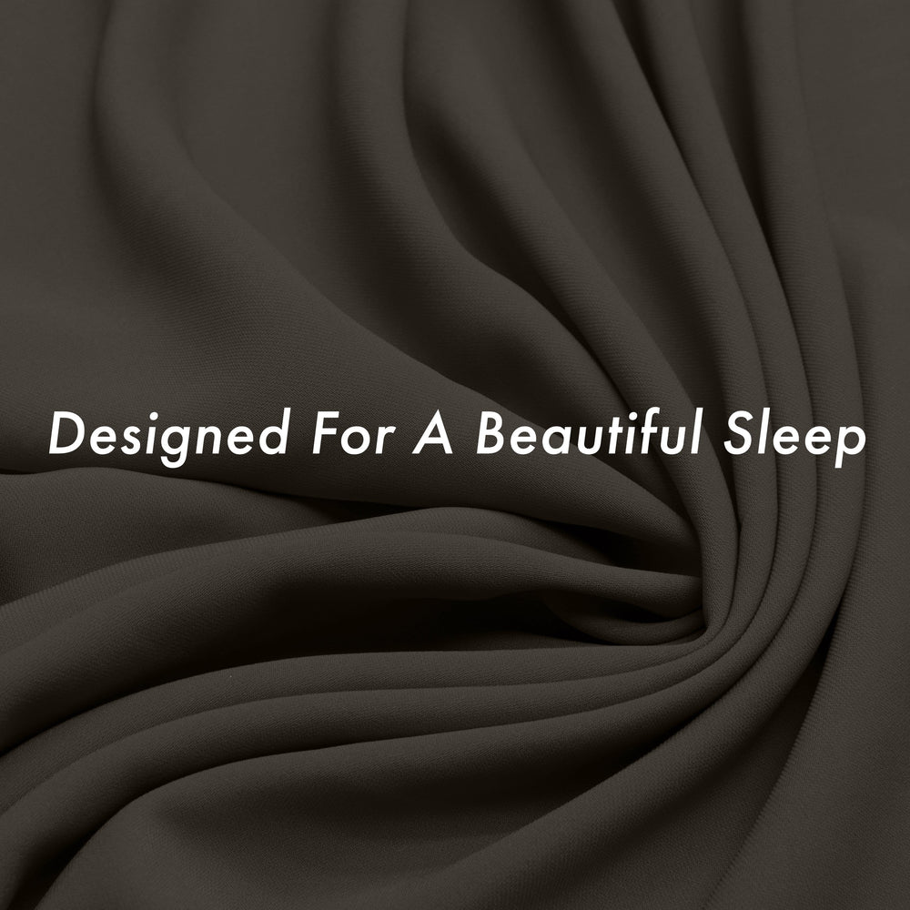 Ultra Silk Like Beauty Pillow Cover - Blend of 85% Nylon and 15% Spandex Means This Cover Is Designed to Keep Hair Tangle Free and Helps Skin - Bonus Matching Hair Scrunchie, Matte Black, Standard