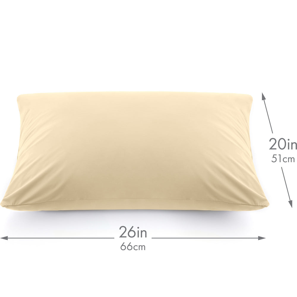 Ultra Silk Like Beauty Pillow Cover - Blend of 85% Nylon and 15% Spandex Means This Cover Is Designed to Keep Hair Tangle Free and Helps Skin - Bonus Matching Hair Scrunchie, Off Cream, Standard