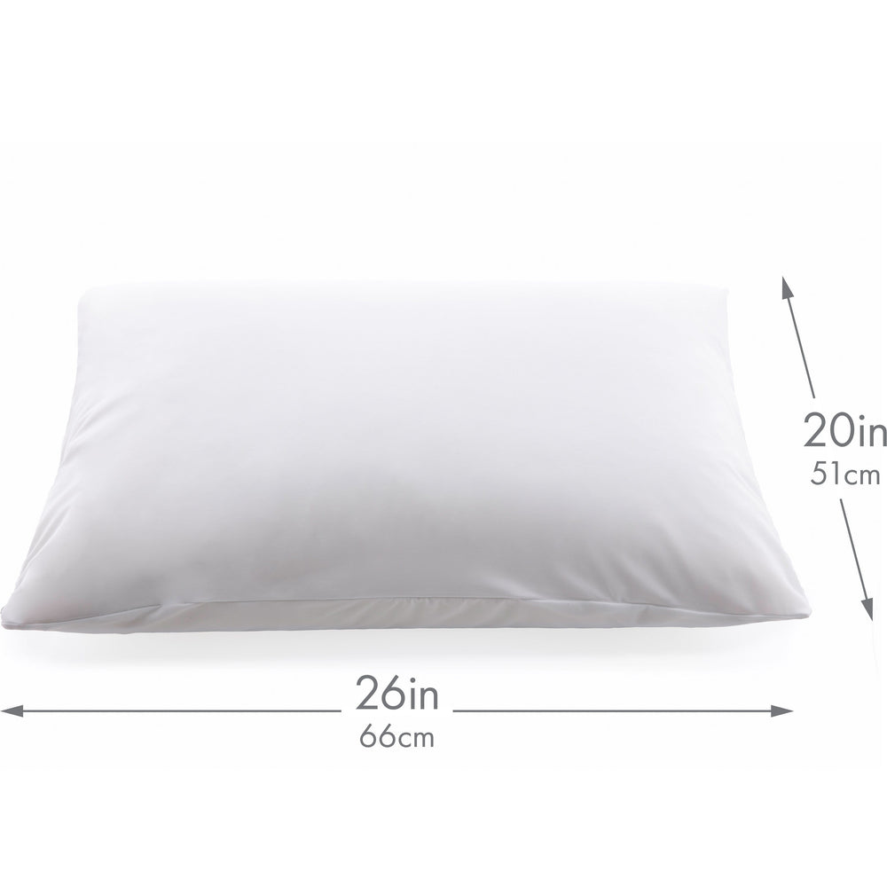 Ultra Silk Like Beauty Pillow Cover - Blend of 85% Nylon and 15% Spandex Means This Cover Is Designed to Keep Hair Tangle Free and Helps Skin - Bonus Matching Hair Scrunchie, White, Standard