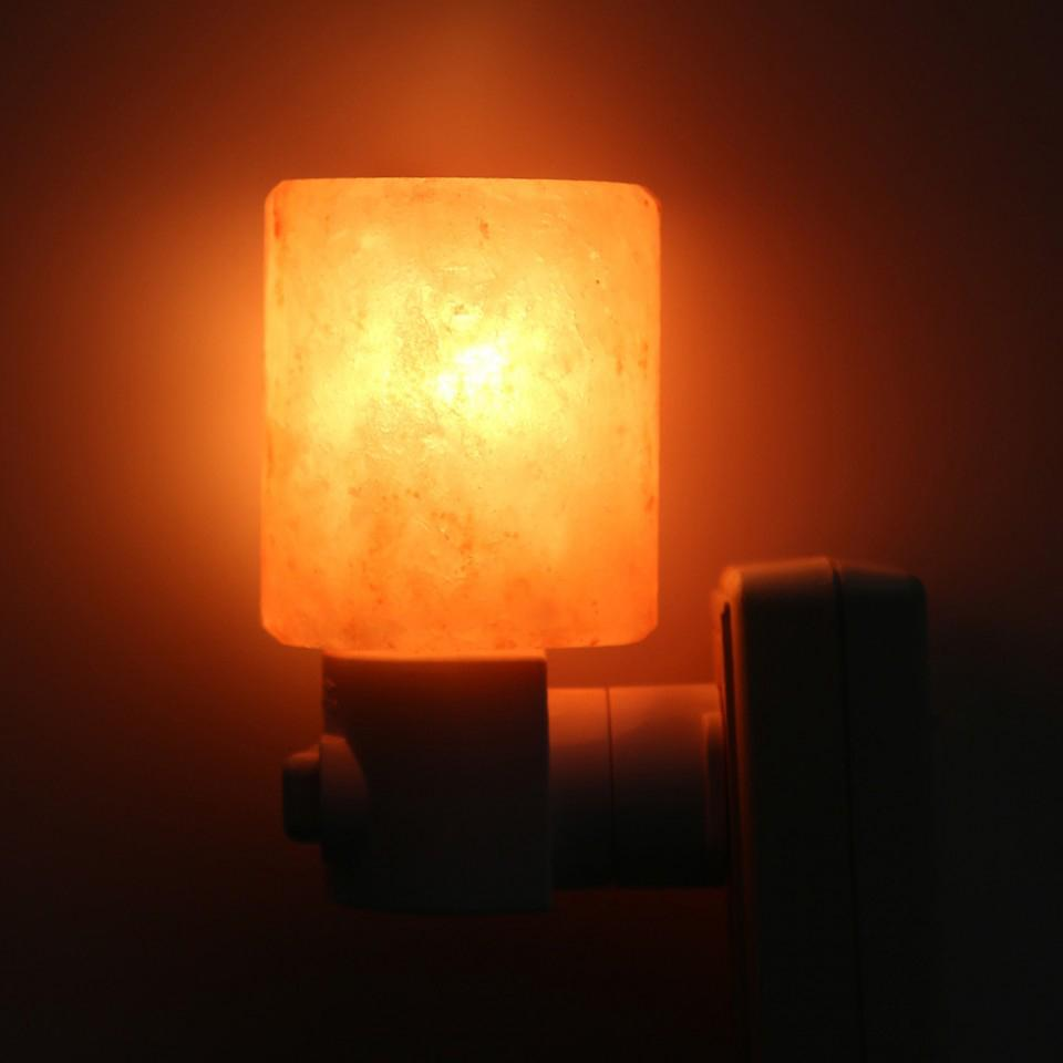 Giveaway Feel Good Light Himalayan Salt Wall Plugin Mini-Lamp Cylinder