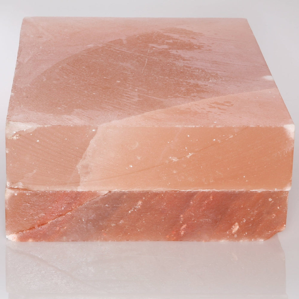 "Himalayan Rock Salt Crystal Kitchen Slab, 12"" X 8"" - Evenly Distrubutes Heat For A Perfect Sear Everytime - Perfect For Cooking Meat, Seafood And Vegetables - Easy To Clean - Cooking Slab"