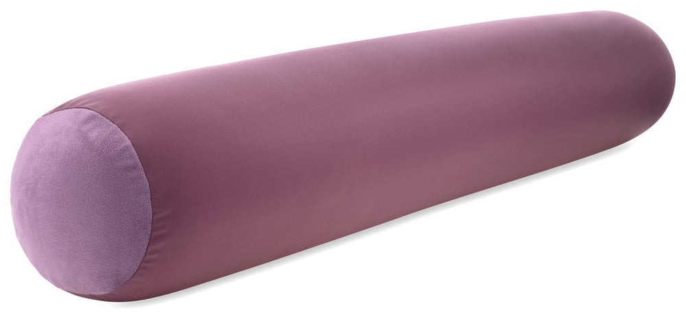 "Straight Body Pillow, Full Size Premium Microbead,Side Sleeping / Maternity Pregnant Women, Supportive ,Fluffy, Breathable, Cooling, 85/15 spandex/nylon Silky Anti-Aging - 48"" X 8"" - Burgundy - Merlot"