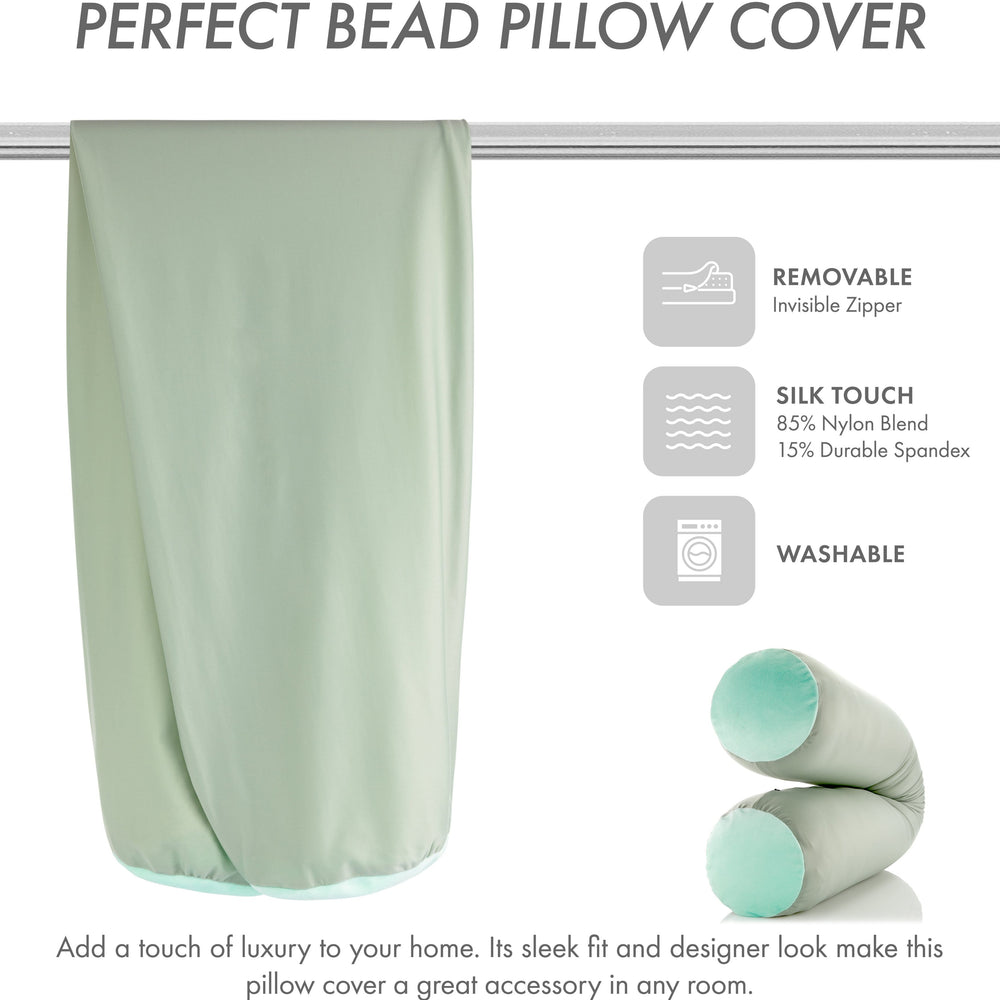 Case Only - Body Pillow Cover Stylish Silky Super Soft - 85% Spandex/ 15% Nylon, Beauty - Anti Wrinkle, Anti Aging Prevention - Breathable Pillowcase Design - Gentle on Hair Size 48 X 8, Cadet Grey