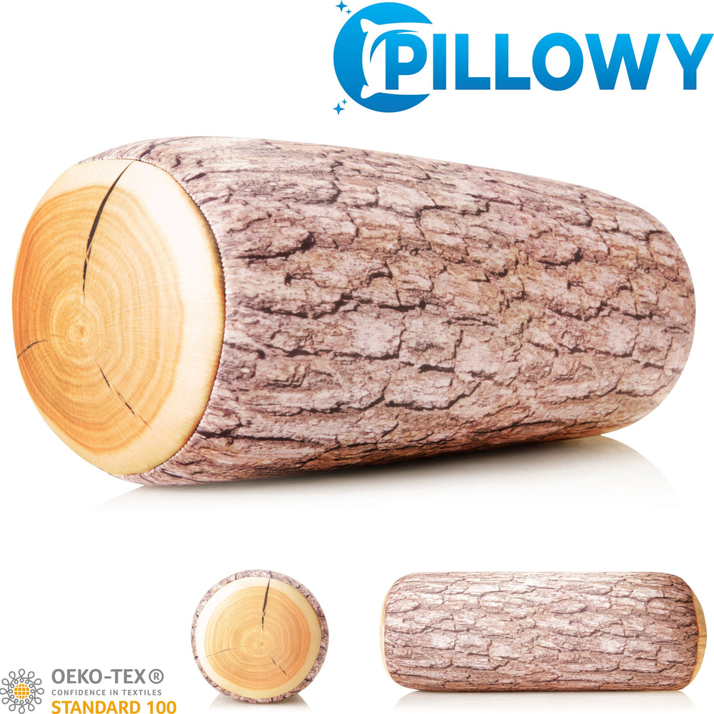 Log COVER ONLY for Body Pillow - Microbead Body Pillow Cover - Breathable Cooling Hypoallergenic Outer Fabric - Straight Body Side Sleepers Pillowcase