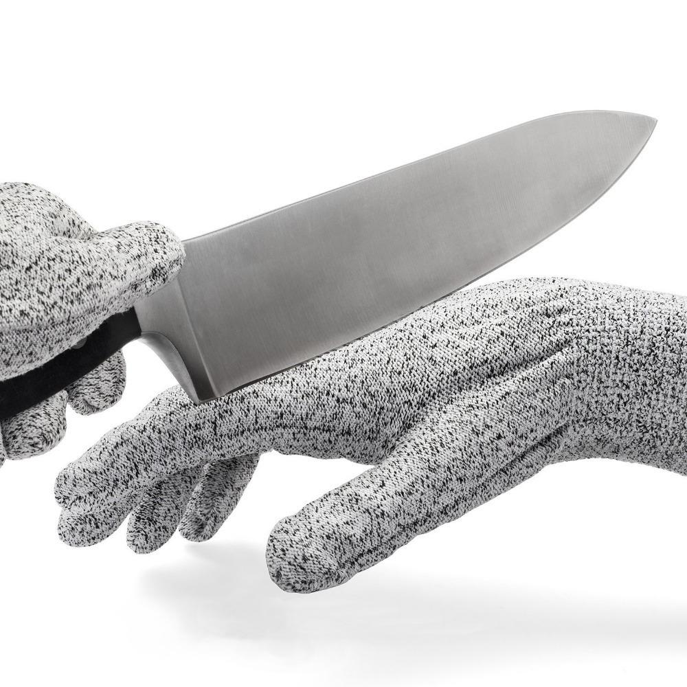 Kevlar No Cut Kitchen Gloves - Machine Washable - High Grade Polyethylene - Light Weight - Kitchen, Grey