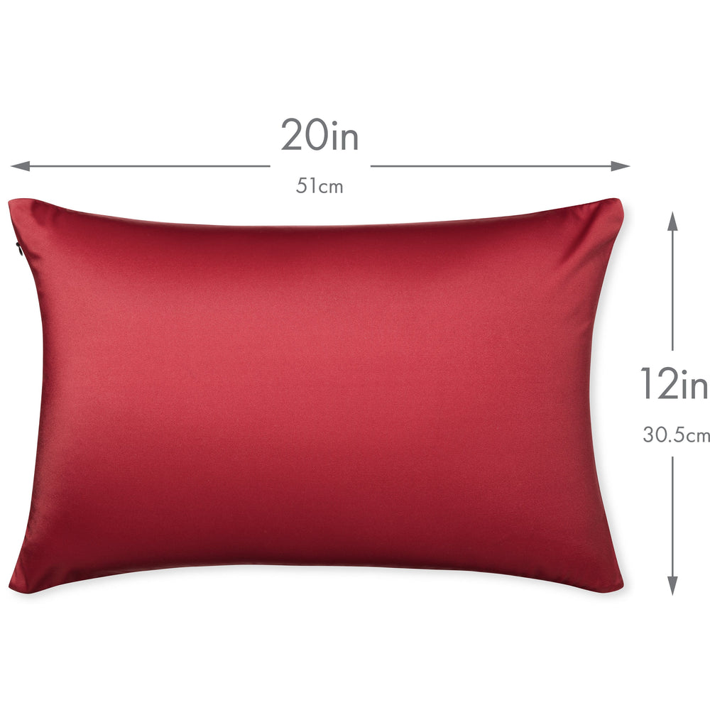 Throw Pillow – Maroon: 1 PCS Luxurious Premium Microbead Pillow With 85/15 Nylon/Spandex Fabric. Forever Fluffy, Outstanding Beauty & Support. Silky, Soft & Beyond Comfortable