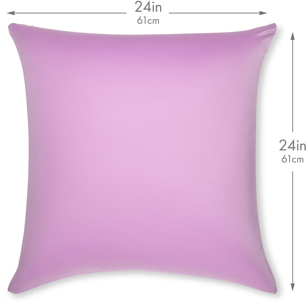 Throw Pillow – Purple: 1 PCS Luxurious Premium Microbead Pillow With 85/15 Nylon/Spandex Fabric. Forever Fluffy, Outstanding Beauty & Support. Silky, Soft & Beyond Comfortable