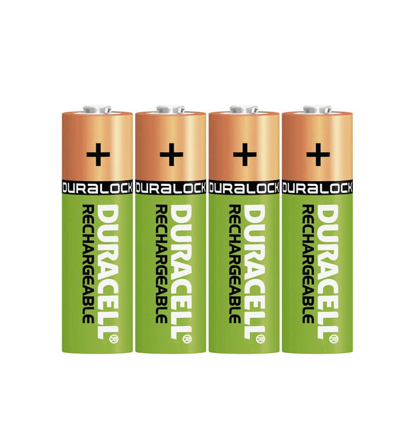 Duracell AA 2500mAh NiMH Rechargeable Batteries - Ready To Use (4 Pack)