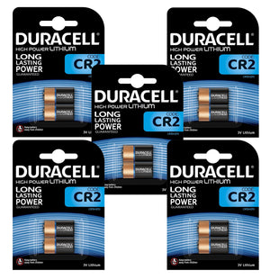 Duracell x10 CR2 3V High Power Lithium Batteries (DLCR2, CR15270) (5 Packs)