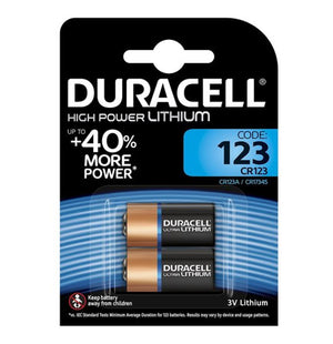 Duracell CR123 3V High Power Lithium Batteries (CR123A, CR17345) (2 Pack)