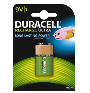 Duracell 9V 170mAh NiMH Rechargeable Batteries - Ready To Use