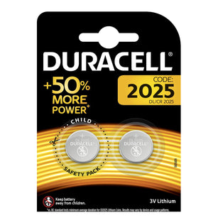 Duracell X2 CR2025 Coin Cell 3V Lithium Batteries (DL2025, ECR2025) (1 Pack)