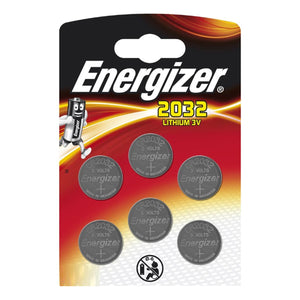 Energizer X6 CR2032 3V Lithium Coin Cell Batteries (DL2032) (Pack of 6)