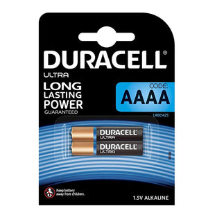 Duracell AAAA Ultra Power 1.5v Alkaline Batteries (LR61, MN2500) (2 Pack)