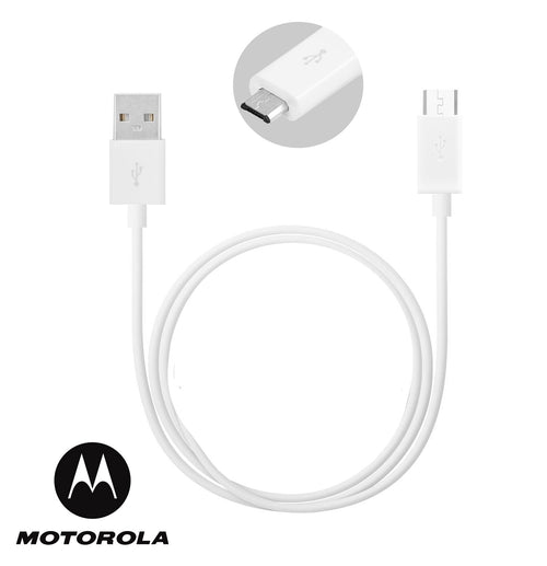 Genuine White Motorola 2.0 Micro USB Charging USB Data Cable For Various Motorola Models