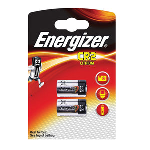 Energizer CR2 3V Lithium Photo Batteries (DLCR2, CR15270) (2 Pack)