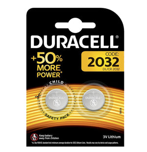 Duracell X2 CR2032 Coin Cell 3V Lithium Batteries (DL2032, ECR2032) (1 Pack)