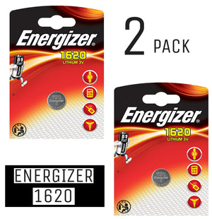 Energizer X2 CR1620 Coin Cell 3V Lithium Batteries (DL1620) (2 Packs)