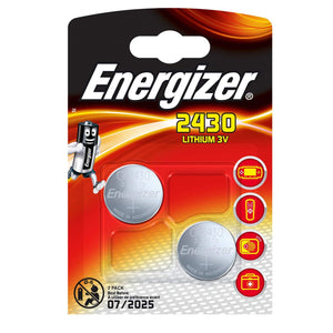 Energizer X2 CR2430 Coin Cell 3V Lithium Batteries (DL2430) (2 Pack)