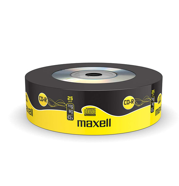 Official Maxell CD-R 25 Pack Blank Recordable Media Discs 700MB Extra Protection