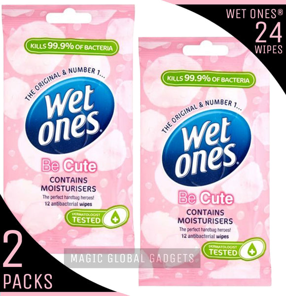 Wet Ones 'Be Cute' Fragrance Free with Aloe Vera - 2 Packs - 24 Wipes