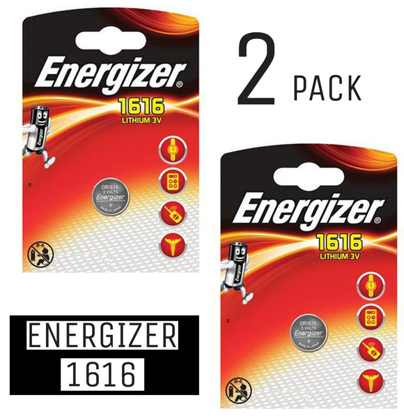 Energizer X2 CR1616 Coin Cell 3V Lithium Batteries (DL1616) (2 Packs)