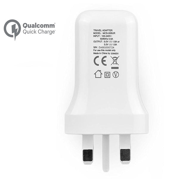 Genuine LG Fast Charge 3.0 Mains Plug & Micro USB Data Cable For Various LG Phones