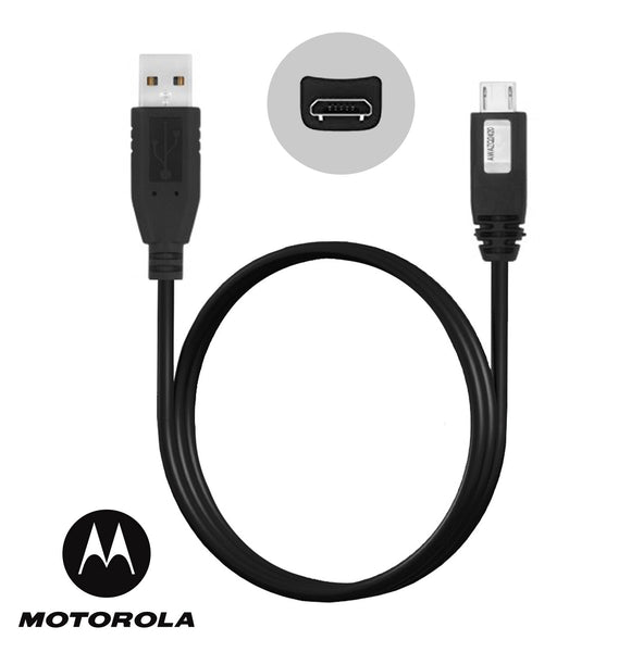 Genuine Black Motorola 2.0 Micro USB Charging USB Data Cable For Various Motorola Models