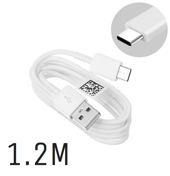Genuine Samsung White Type-C USB Cable For Galaxy S8, S8+, S9, S9+, S10e, S10, S10+, Note 9