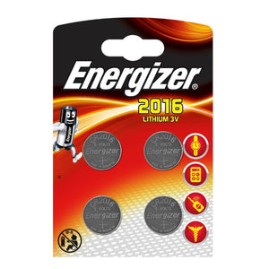 Energizer X4 CR2016 Coin Cell 3V Lithium Batteries (DL2016) (4 Pack)