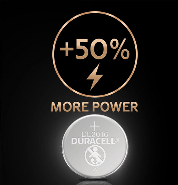 Duracell x10 CR2016 Coin Cell 3V Lithium Batteries (DL2016, KCR2016) (5 Packs)