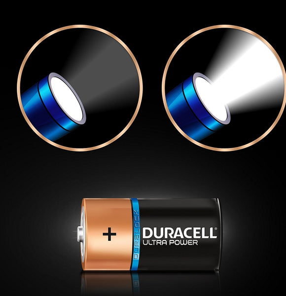 Duracell D Ultra Power 1.5v Alkaline Batteries LR20, MX1300 (2-Pack)