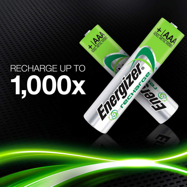 Energizer AAA Universal 500mAh 1.2v NiMH Rechargeable Batteries - PRE-CHARGERD (Pack of 4)
