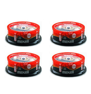 Official (100-Pack) Maxell CD-R 80 mins XL-II Digital Audio Blank Recordable Media Discs