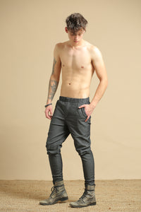 Japanese dark grey pants