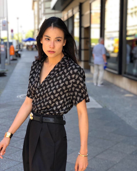 Black resort buttoned shirt