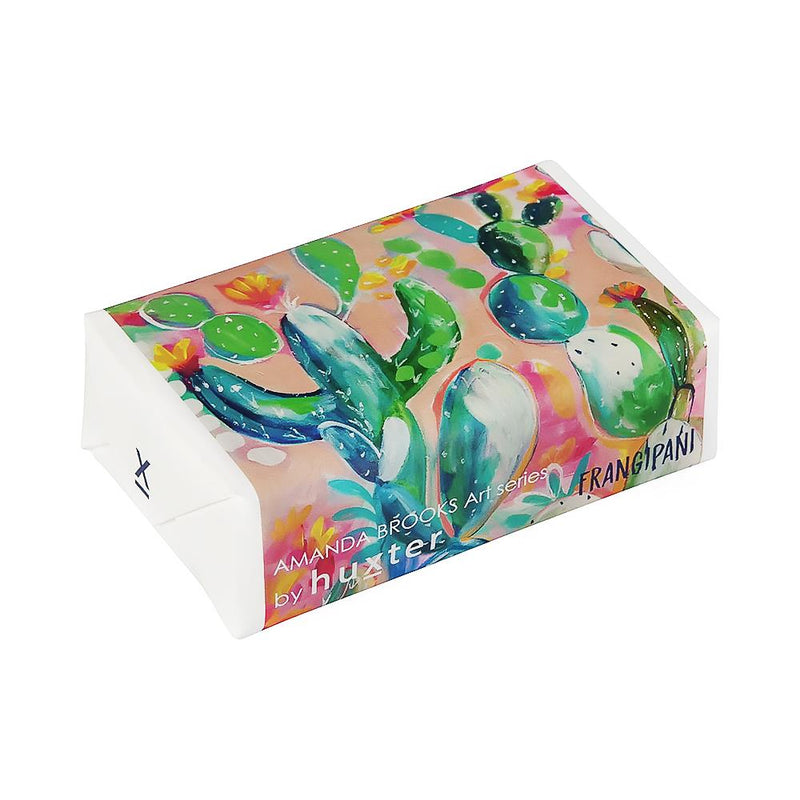 Quirky Cactus' Wrapped Soap - Frangipani