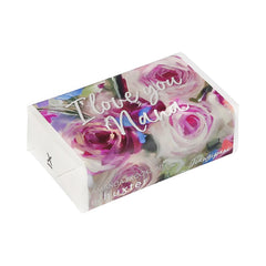 Australian Natives & Roses 'I love you Nana' Wrapped Soap - Frangipani