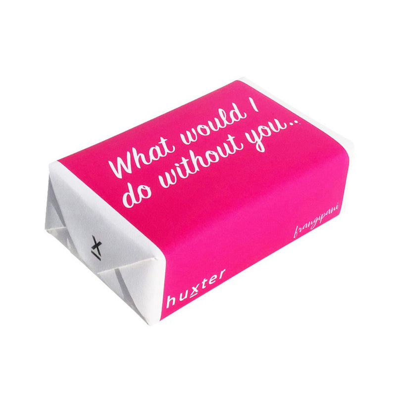 What W/I/D without you - Fuchsia Wrapped Soap - Frangipani