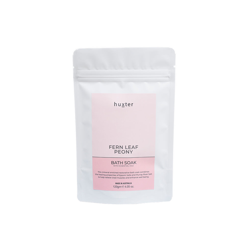 Home Pamper Kit - Pastel Pink - Fern Leaf Peony