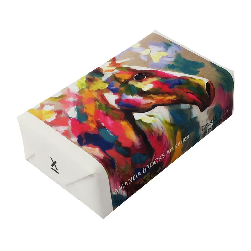 Harlequin' Horse' Wrapped Soap - Basil Lime & Mandarin