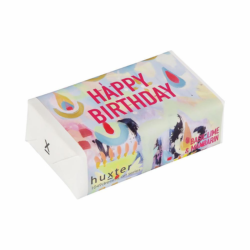 Mura Mirage - Happy B'Day' Wrapped Soap - Basil Lime & Mandarin