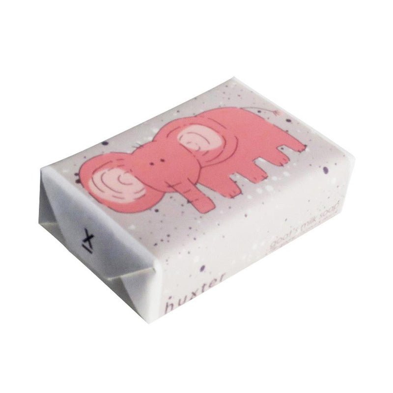 Pink Elephant w Spots Wrapped Soap - Goat's milk