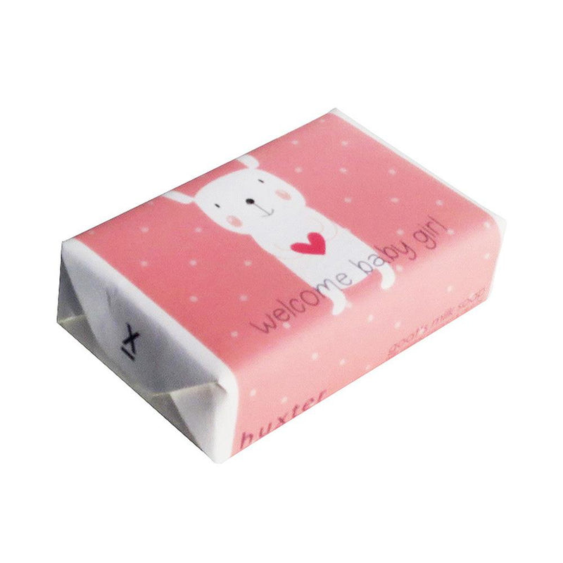Welcome Baby Girl' Wrapped Soap - Goat's milk