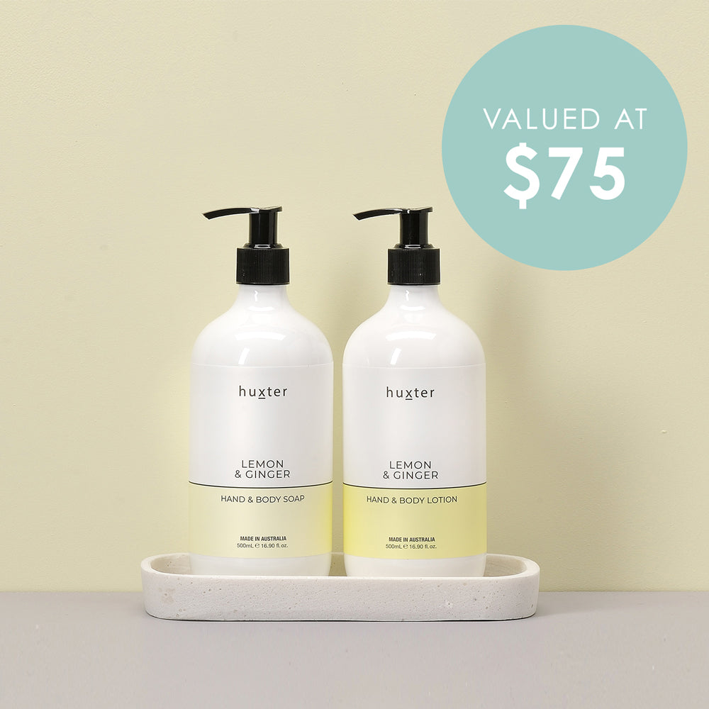 Hand & Body Soap & Lotion Gift Set - Lemon & Ginger