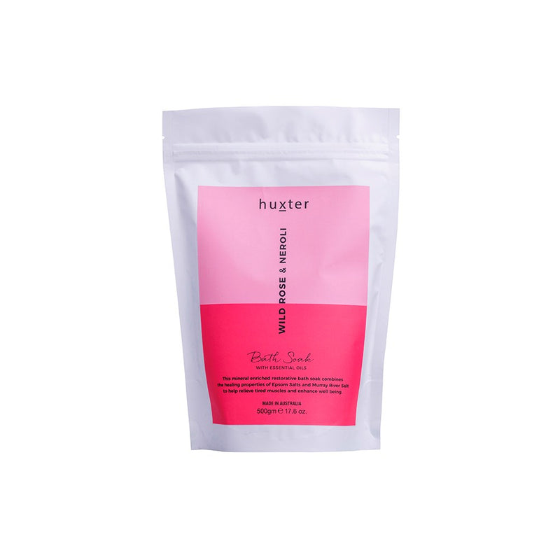 Bath Soak 500gm - Wild Rose & Neroli