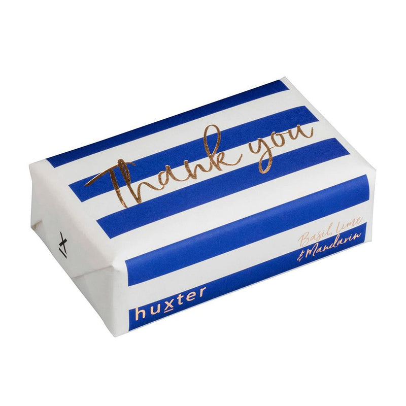 Thank you - Navy Stripes - ROSE GOLD FOIL