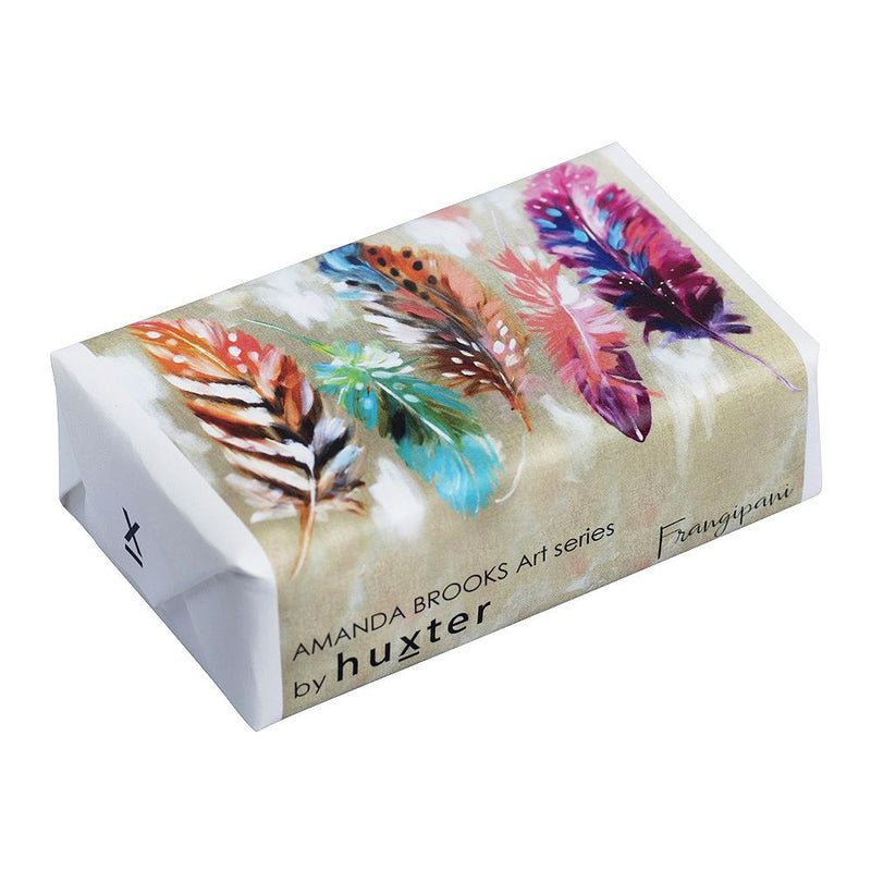 Delicate Feathers'  Wrapped Soap - Frangipani