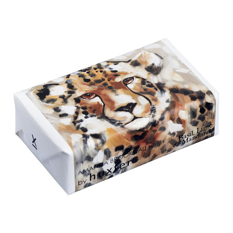 Chimanga' - Leopard Wrapped Soap - Basil Lime & Mandarin